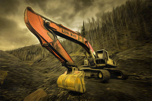 Photograph - Link Belt Excavator by Fred Denner
