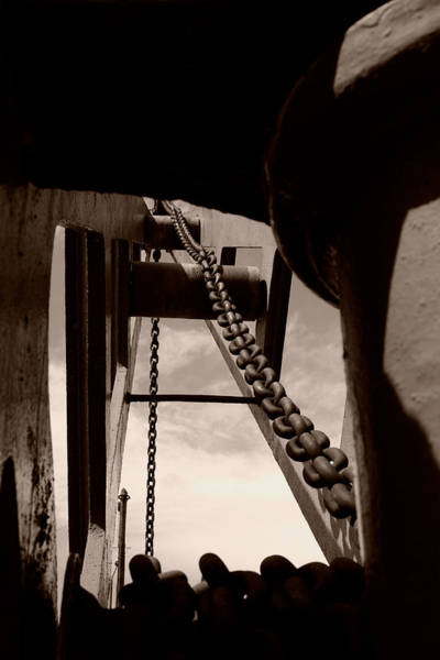 Chain Link Photograph - Link To The Jib by Brian Roscorla