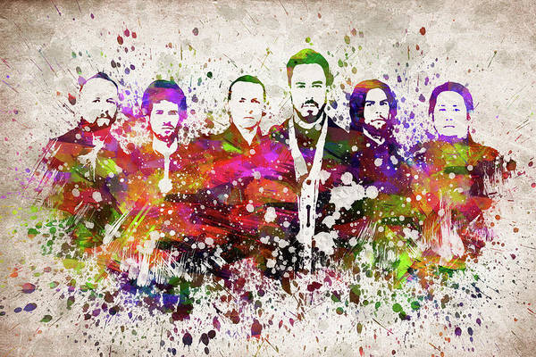 Wall Art - Digital Art - Linkin Park In Color by Aged Pixel