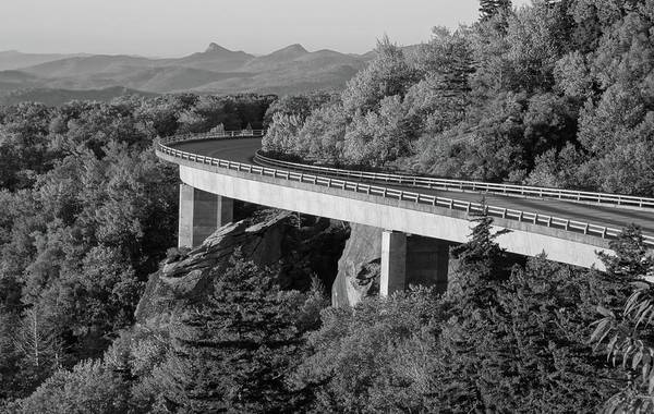 Photograph - Linn Cove Viaduct Black And White by Dan Sproul