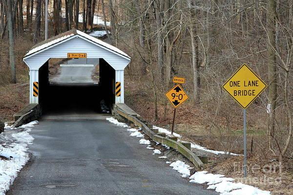 Photograph - Linton Stevens Covered Bridge by Ken Keener