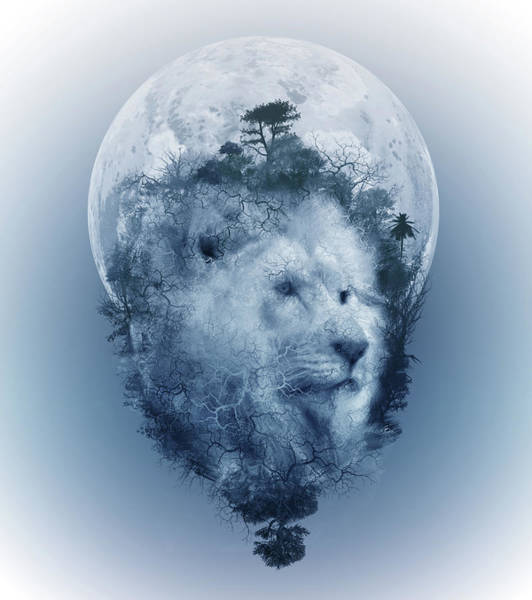 Growling Wall Art - Digital Art - Lion 2 by Bekim M