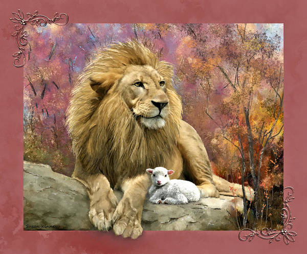 Digital Art - Lion And The Lamb by Susan Kinney