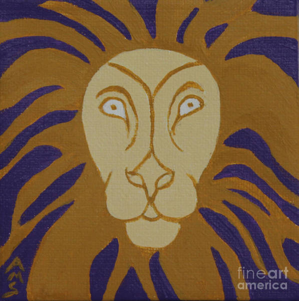 Painting - Lion by Annette M Stevenson