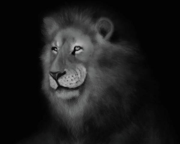 Digital Art - Lion Art by Angela Murdock