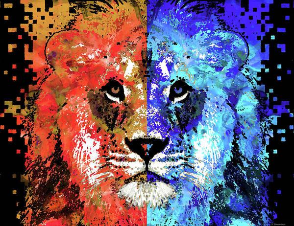 Painting - Lion Art - Majesty - Sharon Cummings by Sharon Cummings