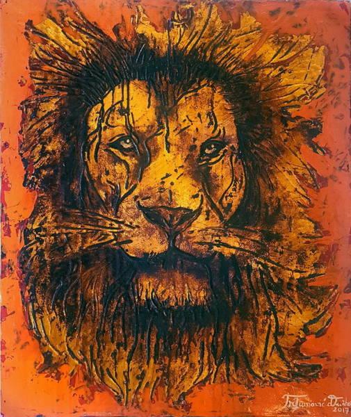 Wall Art - Painting - - Lion Chandra - by Dusko Angel Trifunovic