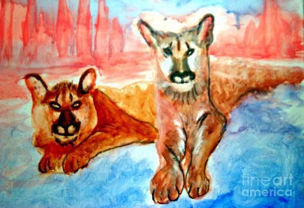 Lion Cubs Of Arizona Art Print
