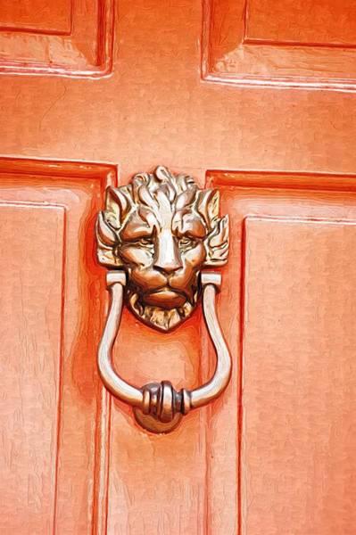 Photograph - Lion Door Knocker by Donna Bentley