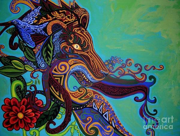 Burnt Sienna Wall Art - Painting - Lion Gargoyle by Genevieve Esson