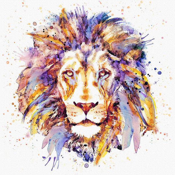 Beautiful Cats Wall Art - Painting - Lion Head by Marian Voicu