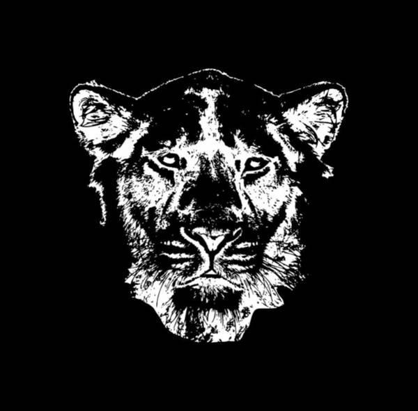 Digital Art - Lion Head by Piotr Dulski