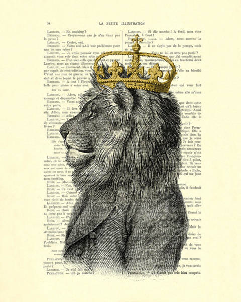 England Digital Art - Lion King by Madame Memento