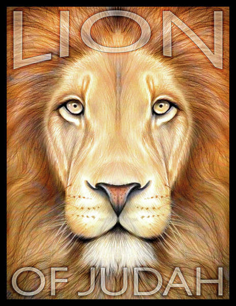 Bible Wall Art - Drawing - Lion Of Judah by Greg Joens