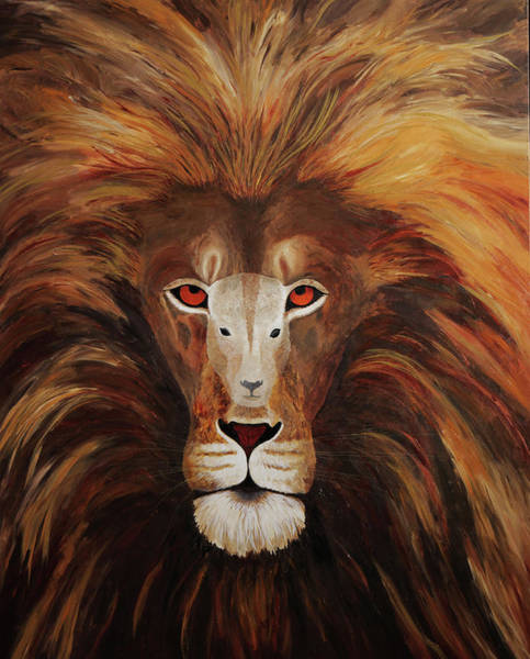 Scriptural Painting - Lion Of Judah, Lamb Of God by Julie A Johnston