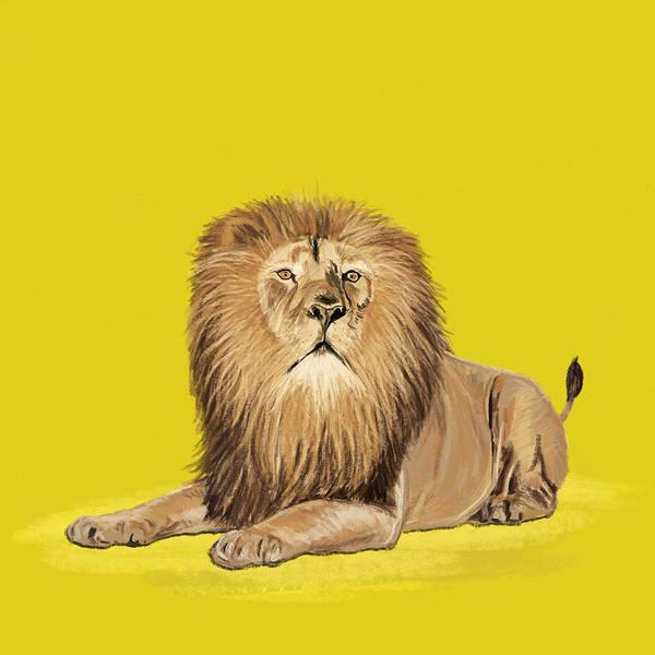 Vertebrate Painting - Lion Painting by Setsiri Silapasuwanchai