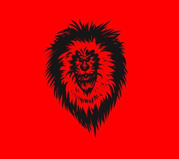Drawing - Lion Roar by Robert Watson
