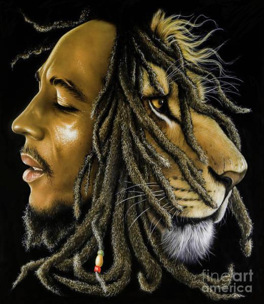 Reggae Painting - Lion Zion by Jurek Zamoyski