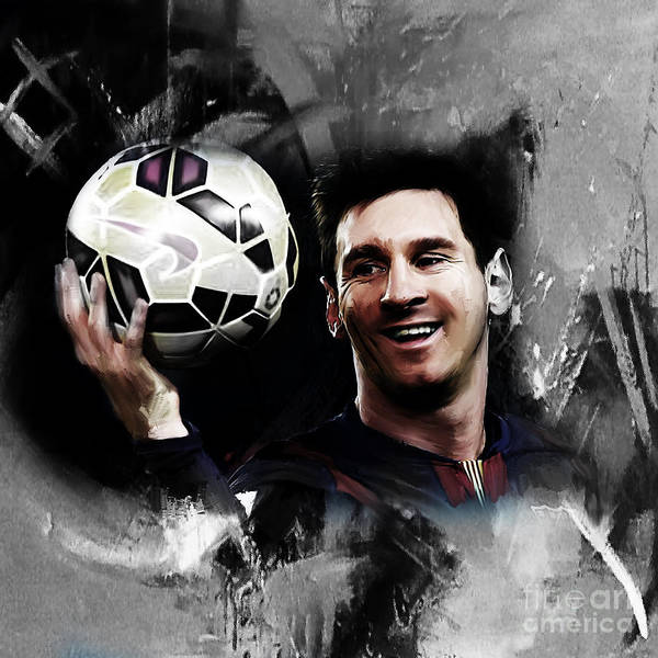 Wall Art - Painting - Lionel Messi 03c by Gull G