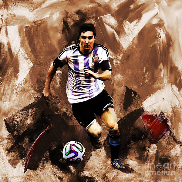 Wall Art - Painting - Lionel Messi 094 by Gull G