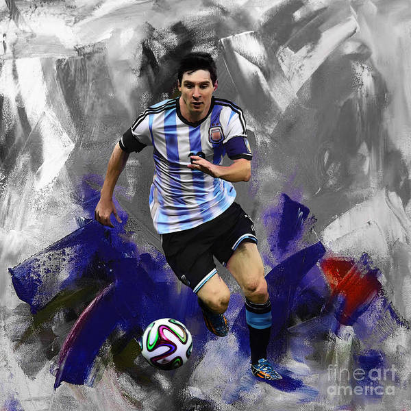 Wall Art - Painting - Lionel Messi 094a by Gull G