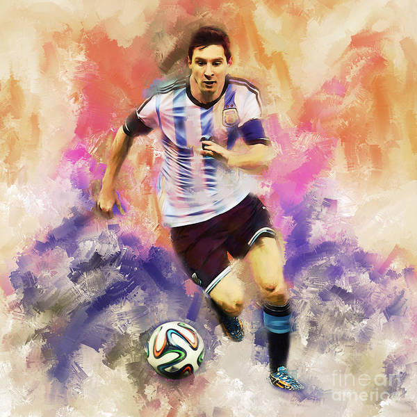 Wall Art - Painting - Lionel Messi 094c by Gull G
