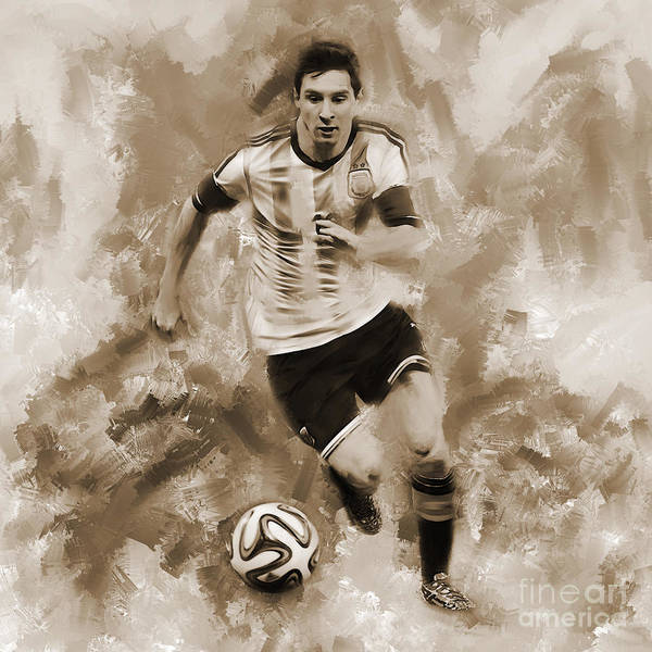 Wall Art - Painting - Lionel Messi 094f by Gull G