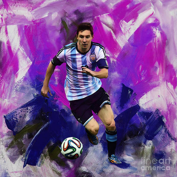 Wall Art - Painting - Lionel Messi 094g by Gull G