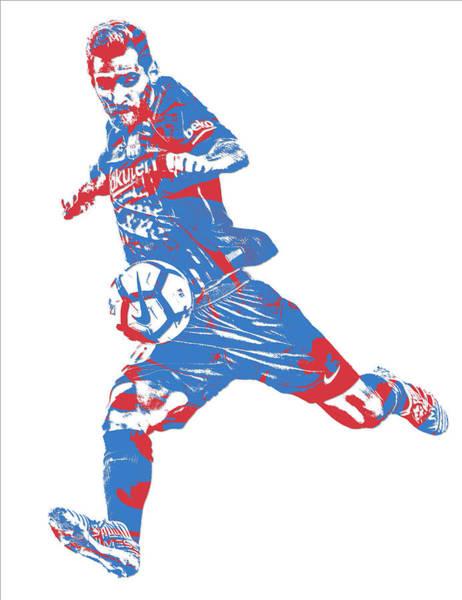 Uefa Wall Art - Mixed Media - Lionel Messi F C Barcelona Argentina Pixel Art 2 by Joe Hamilton