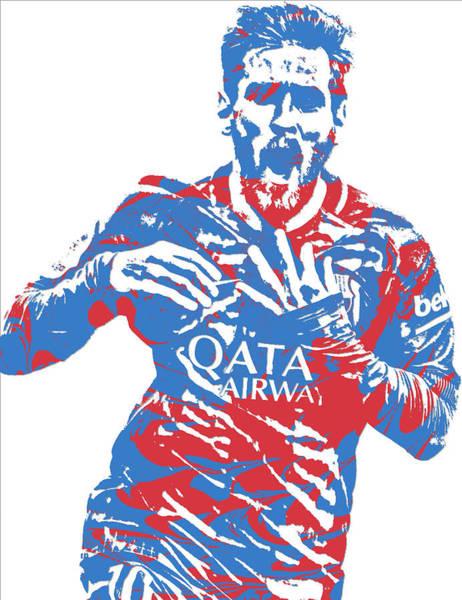 Uefa Wall Art - Mixed Media - Lionel Messi F C Barcelona Argentina Pixel Art 5 by Joe Hamilton