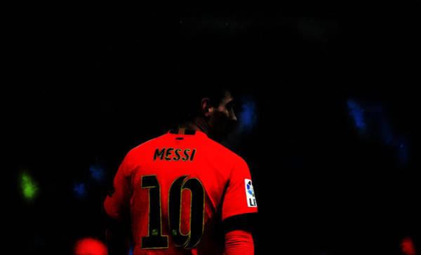 Manchester United Fc Wall Art - Digital Art - Lionel Messi Lets Go by Brian Reaves