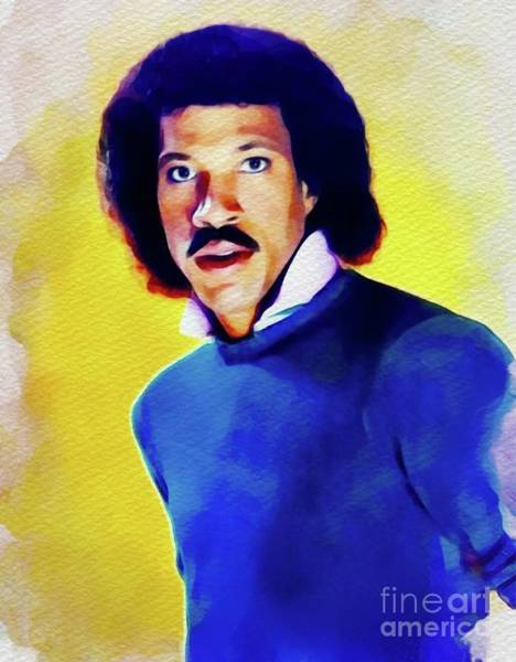 Wall Art - Painting - Lionel Richie, Music Legend by John Springfield