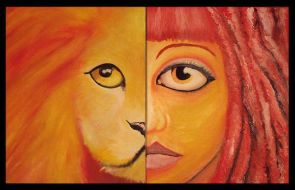Wall Art - Painting - Lioness by Alycia Ryan