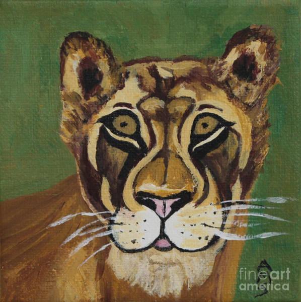 Painting - Lioness by Annette M Stevenson