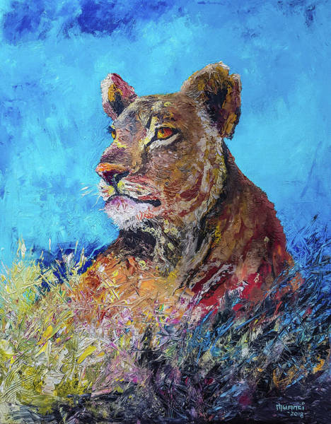 Wall Art - Painting - Lioness Pride by Anthony Mwangi