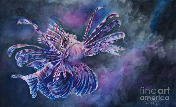 Painting - Lionfish by Lachri