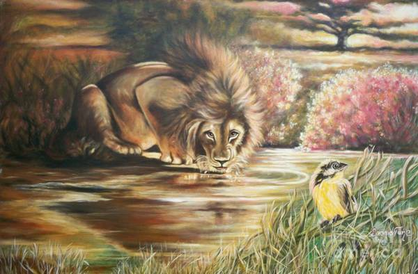 Painting - Blaa Kattproduksjoner           Watch  Out For  Yellow  Bird  by Sigrid Tune