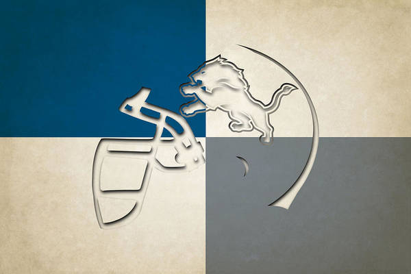 Detroit Lions Photograph - Lions Helmet Art by Joe Hamilton