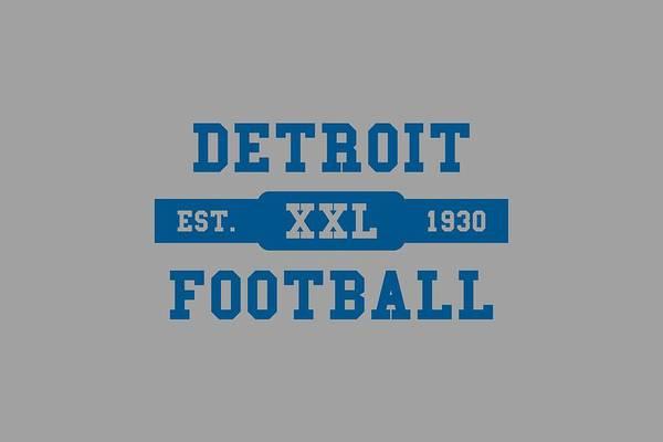 Detroit Lions Photograph - Lions Retro Shirt by Joe Hamilton