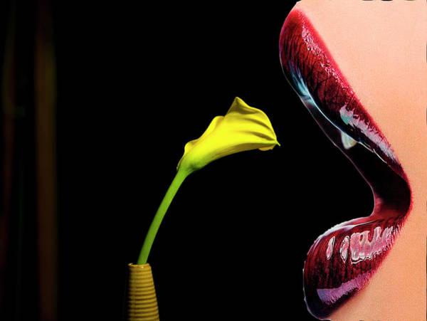 Sexuality Mixed Media - Lips... by Panos Pliassas