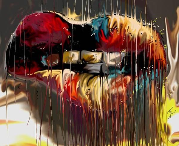 Digital Art - Lips Say It All by Darren Cannell
