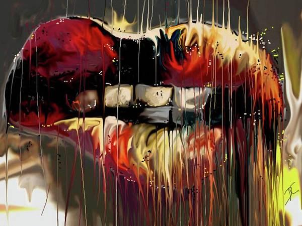 Digital Art - Lips Say It by Darren Cannell