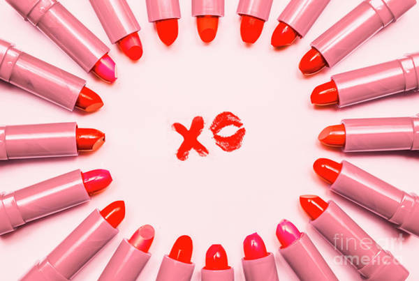 Photograph - Lipstick Kisses Xo by Jorgo Photography - Wall Art Gallery