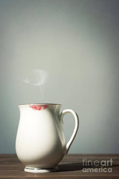 Wall Art - Photograph - Lipstick On Coffee Mug by Amanda Elwell