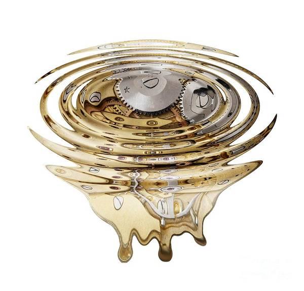 Wall Art - Digital Art - Liquefied Clockwork by Michal Boubin
