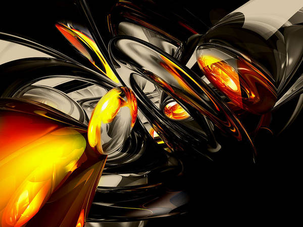 Chs Digital Art - Liquid Chaos Abstract by Alexander Butler