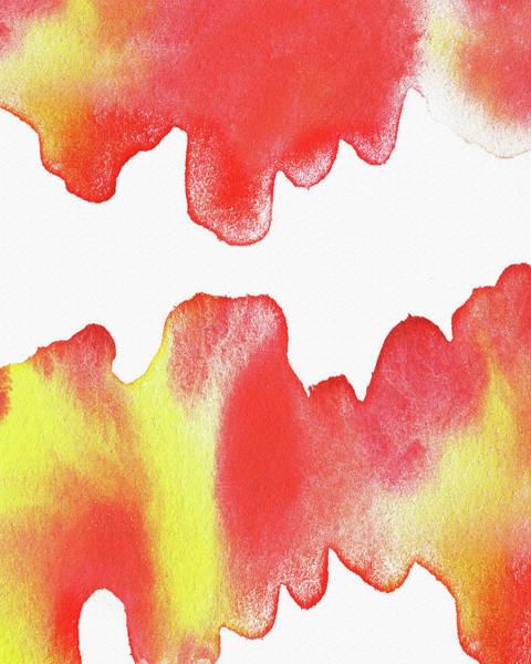Fireplace Painting - Liquid Fire Watercolor Abstract II by Irina Sztukowski