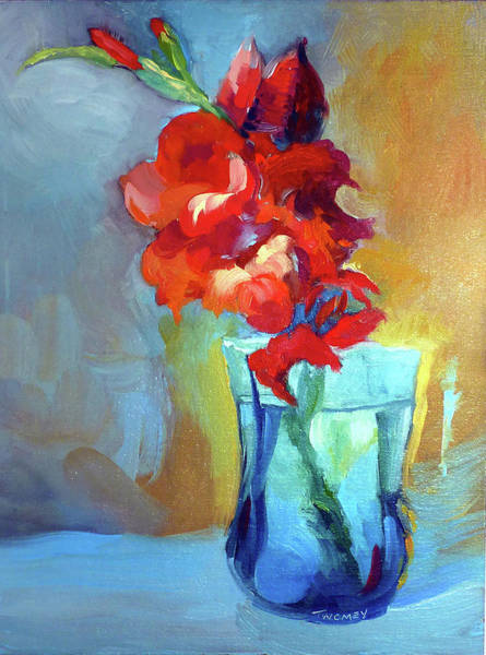 Alla Prima Painting - Liquid Gladiolas by Catherine Twomey