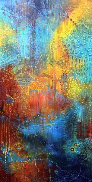 Wall Art - Painting - Liquid Gravitation by Lolita Bronzini