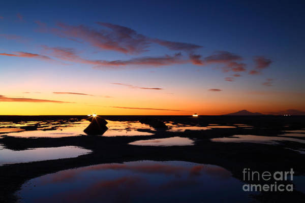 Photograph - Liquid Skies Colours And Patterns Salar De Uyuni by James Brunker